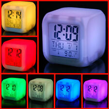 i-gadgets Color Changing Digital LCD Alarm Table  Clock with Calender Time Temp