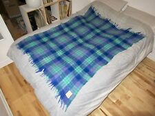 "EUC Hudsons Bay HBC Vintage Mohair Wool Blanket Throw 45"" x 64"" Made in Scotland"