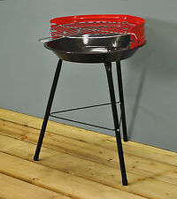 "Kingfisher Portable 14"" Red Charcoal BBQ / Barbeque For the Garden Beach Camping"