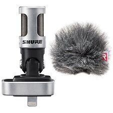 Shure*MV88+AMV88 Rycote Windscreen*iOS Digital Stereo Condenser Mic FREE2DAY NEW