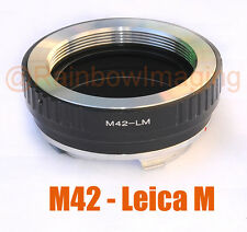 Adjustable M42 Lens to Leica M Mount Camera Adapter M6 M8 M7 M9 Ricoh GXR A12