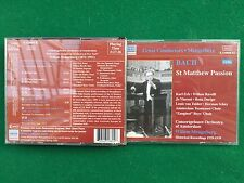 3 CD Musica , BACH - ST MATTHEW PASSION , Willem MENGELBERG Amsterdam Orchestra