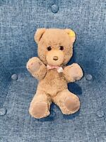 "9"" Vintage STEIFF TEDDY BEAR With Pink Bow Girls Boys Toy Kids Germany"