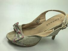 Rampage Womens Shoes Size 10 M  Bow Floral Open Toe Sling Back Heels