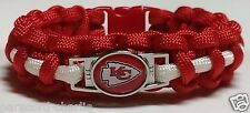 Kansas City Chiefs Red & White Paracord Bracelet or Lanyard or Deluxe Key Chain