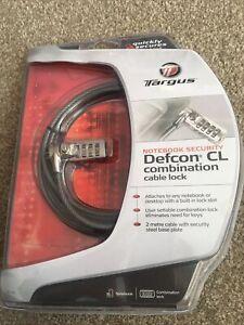Targus Notebook Security Defcon CL Combination Cable Lock BNIP