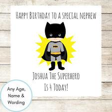 PERSONALISED Batman Birthday Card Superhero Boys Son Nephew Brother Age 2nd 3rd