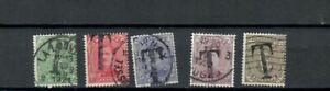 BELGIUM  COLLECTION  OF OVERPRINTED TAX USED STAMPS  LOT (BELG 568)