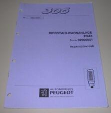 Werkstatthandbuch Peugeot 306 Diebstahlwarnanlage Alarmanlage Auto Alarm 04/1997