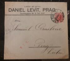 1906 Prague Austria Hungary Empire Commercial Cover Domestic Used