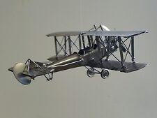 WWI WWII BIPLANE Airplane Custom Metal ART Office Desk DECOR Moving Propeller