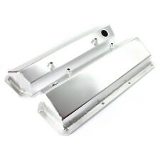Ford 302 351C Cleveland Anodized Fabricated Valve Covers - Tall w/ Hole