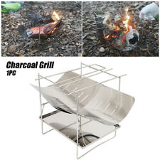 Bbq Accessory Folding Camping Charcoal Grill Outdoor Portable Stainless Steel