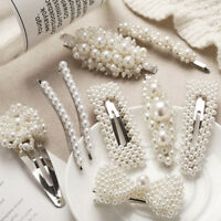 Hair Accessories Pearl Hair Clip Sweet Hairgrip Snap Barrette Stick Hairpin