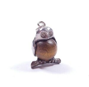 Rare Genuine Vintage Nuvo Silver Touch Would Charm Owl Bird 925 Sterling 4.6g