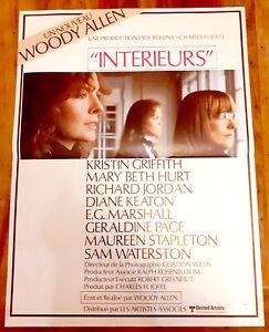 INTERIEURS - Woody ALLEN / Diane KEATON - Affiche Cinéma (40x60)