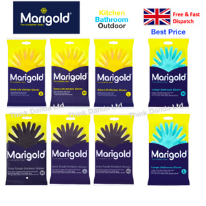Marigold Rubber Gloves Cotton Lined Extra Comfy Last Longer Small, Medium, Large