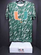Adidas Miami Hurricanes Sideline Shock Energy Training climalite Shirt Small