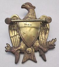 """Vintage Brass Eagle & Shield Architectural Door Knocker As Is 7"""" x 5 5/8"""""""