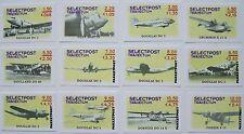 Stadspost Utrecht 2001 - 12 hoge waarden Vliegtuigen, Airplanes, postfris onget.