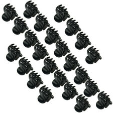 24 Pcs New Fashion Women Girls Plastic Black Mini Hair Claw Styling Clamp Clip