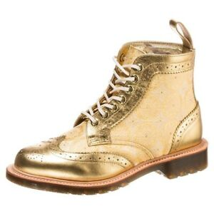 Dr. Martens Women's 1460 Surya GOLD MADE IN ENGLAND Retail $450!!!