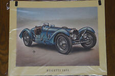 Bugatti 1934 -- Poster - Plakat - Farbe -- 30 x 37 cm --