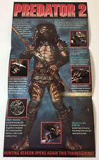 1990 insert promo booklet/poster ~ PREDATOR 2