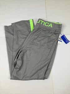 NEW NAUTICA Sleepwear Pajama Lounge Pants Grey Green Pockets XL