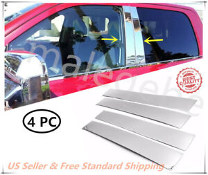 Fit 09-17 Dodge Ram Crew/Quad Cab Stainless Steel Chrome Pillar Post Trim Cover