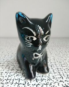 50s 60s Vintage Retro Kitsch Black Cat Kitty Kitten Ornament Mid Century Modern
