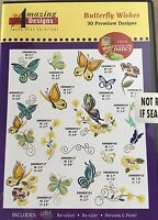 Butterflies & Flowers Embroidery Designs CD Butterfly Wishes MultiFormatted New