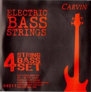 CARVIN 40-100 MEDIUM LIGHT GAUGE BASS STRINGS SET, MADE in USA, NEW