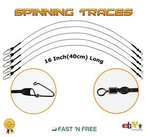 40cm Spinning Wire Traces 16 Inch --- Pike Rig --- Lure Fishing