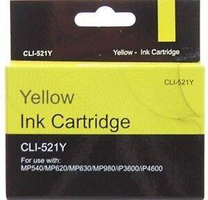 Compatible Canon Pixma CLI-521Y Yellow Printer INK Cartridge CHEAP!!! CLI521
