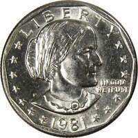1981 P Susan B Anthony Dollar BU Uncirculated Mint State SBA $1 US Coin