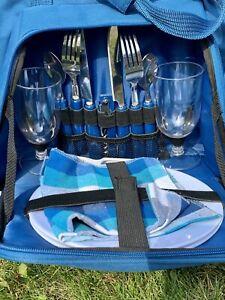 Picnic Bag Set for 2 People, Blue