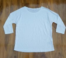 BODEN LADIES GORGEOUS White supersoft oversized Top Size 10. WL922 BRAND NEW.