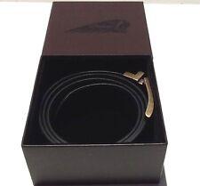 Genuine Indian Motorcycle Mens Reversible Leather Belt Black & Brown w/Gift Box