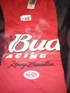NHRA AUTOGRAPHED T SHIRT KENNY BERNSTEIN