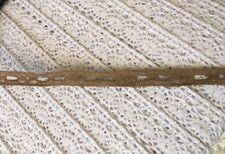 5 yards  khaki insert narrow lace trim 3/8