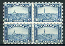 Weeda Canada 176 VF mint H/NH block, 50c dull blue Grand Pre, scarce! CV $1,500