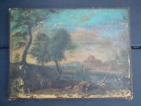 Tableau XVIIème entourage / suiveur Claude Lorrain collection Adolphe Eymael HST