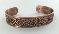 MAGNETIC COPPER BANGLE/BRACELET ARTHRITIS/PAIN RELIEF MENS BIO CELTIC TORQUE