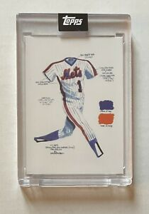 2021 Topps x Once Upon a Time in Queens #1 JP-1 The Uniform by Joey Paints Mets