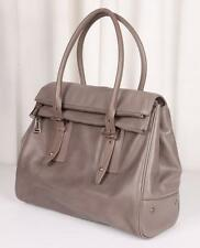 BELSTAFF Taupe Leather *DORCHESTER 36*Double Pocket Large Bag Handbag Tote Purse