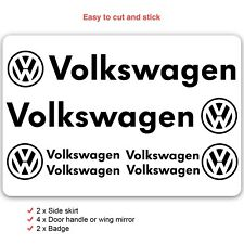 Volkswagen Car Decal Vinyl Stickers for Golf Polo Passat Logo Set of 8
