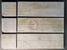 "Dioramas Plus 1/35 ""Battle Damaged Concrete Sidewalks"" 3 Straight 2 Corners DP21"