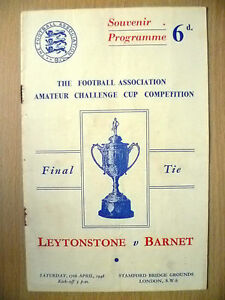 1948 Amateur Cup FINAL- LEYTONSTONE v BARNET at Stamford Bridge