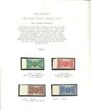 More details for 1935 royal silver jubilee set ,all 3 formats presented on three album pages. umm